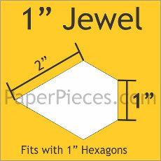 English Paper Pieces Pre-cut Papers ~ Jewel 1""