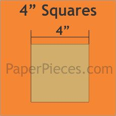 English Paper Pieces Pre-cut Papers ~ Square 4""