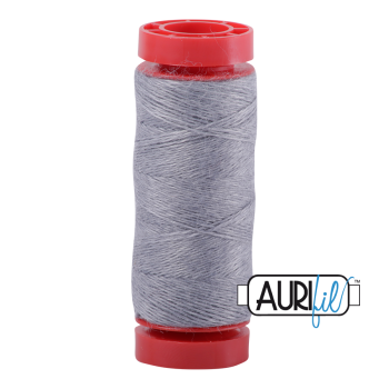 Aurifil ~ 12 wt Lana Wool ~ 8081 ~ Heathered Marble Grey