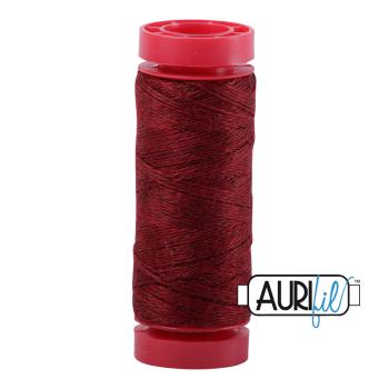 Aurifil ~ 12 wt Lana Wool ~ 8089 ~ Heathered Barnyard Red