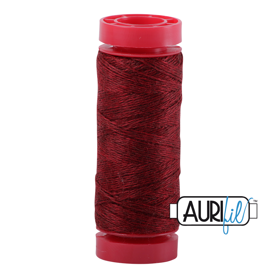 Aurifil ~ 12 wt Lana Wool ~ 8088 ~ Heathered Barnyard Red