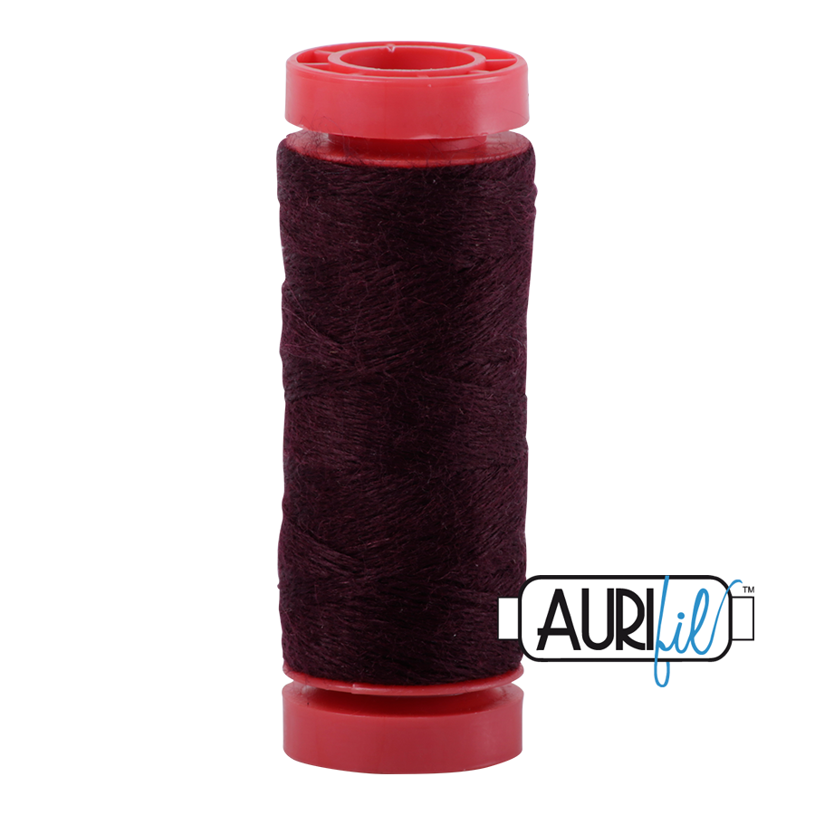 Aurifil ~ 12 wt Lana Wool ~ 8465 ~ Wine Dark Red