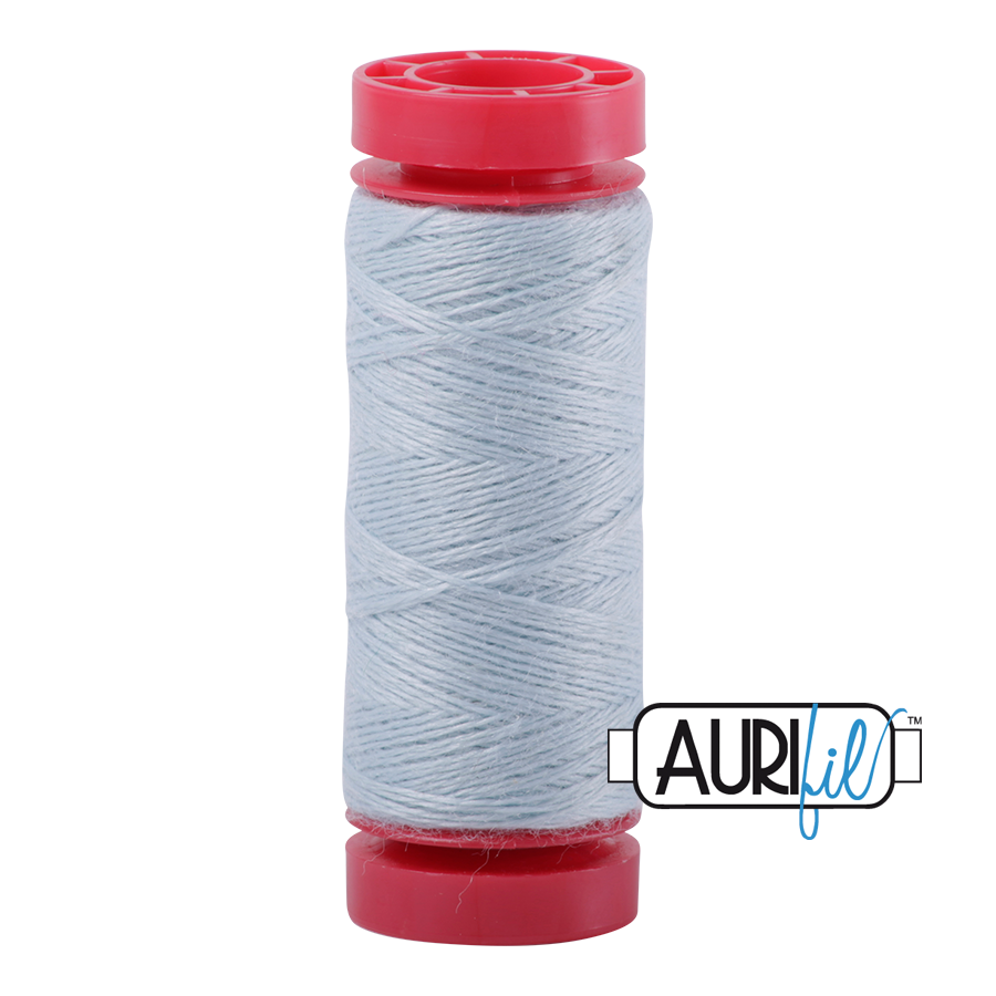 Aurifil ~ 12 wt Lana Wool ~ 8745 ~ Heathered Light Blue/Grey