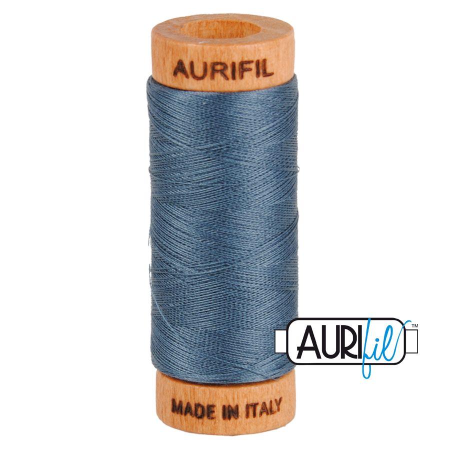 Aurifil ~ 80 wt Cotton ~ 1158 ~ Medium Grey