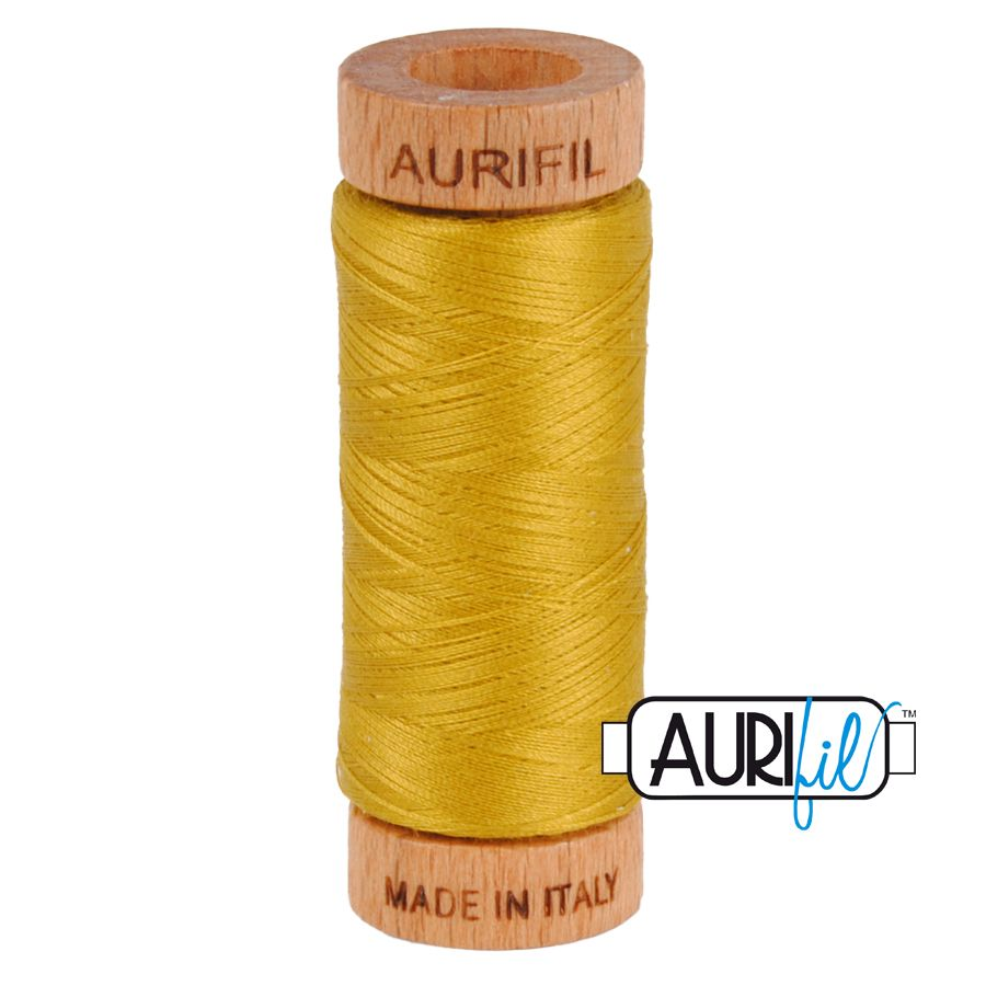 Aurifil ~ 80 wt Cotton ~ 5022 ~ Mustard