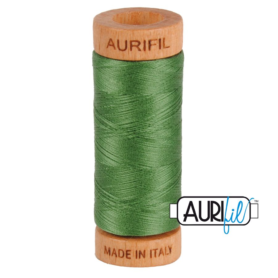 Aurifil ~ 80 wt Cotton ~ 2890 ~ Dark Grass Green