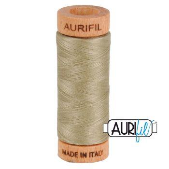 Aurifil ~ 80 wt Cotton ~ 2900 ~ Light Khaki Green
