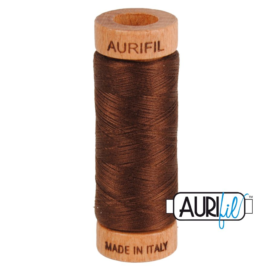Aurifil ~ 80 wt Cotton ~ 2360 ~ Chocolate Brown