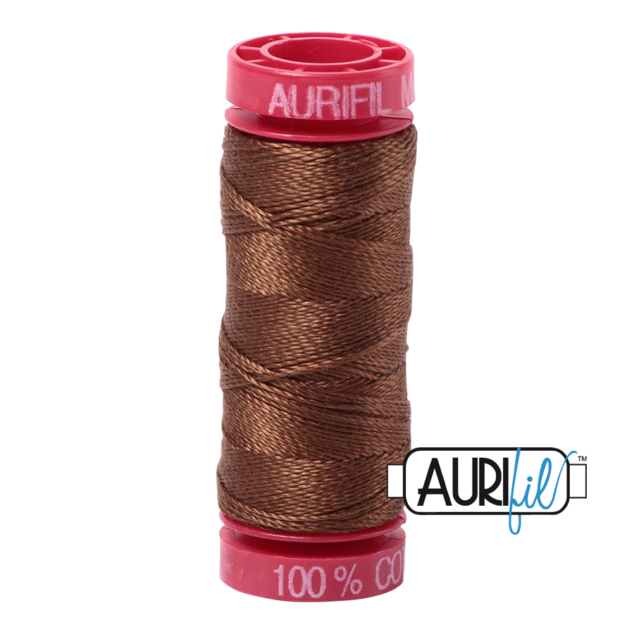 Aurifil ~ 12wt Thread ~ 2372 ~ Dark Antique Gold
