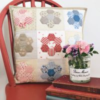 'Happy Hexie Cushion' Kit & Pattern