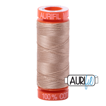 Aurifil ~ 50 wt Cotton ~ 2314 ~ Beige Small Spool