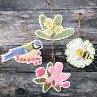 'Spring-A-Ling' Felt Decorations Pattern