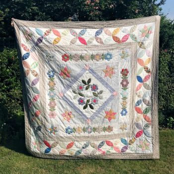 *NEW* Block of the Month Reservation Fee ~  English Frame Quilt ~ SORRY FULLY SUBSCRIBED!
