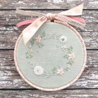 'Embroidery Hoop Duck Egg Cottage Garden' Kit