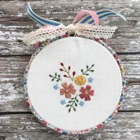 'Embroidery Hoop Garden Cuttings' Kit & Pattern