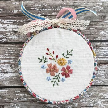 'Embroidery Hoop Garden Cuttings' Kit & Pattern