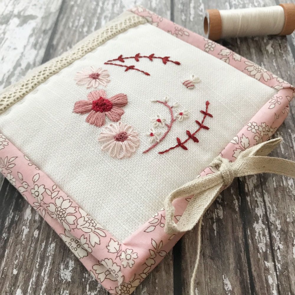'Little Bee Faded Red Needle Book' Kit & Pattern