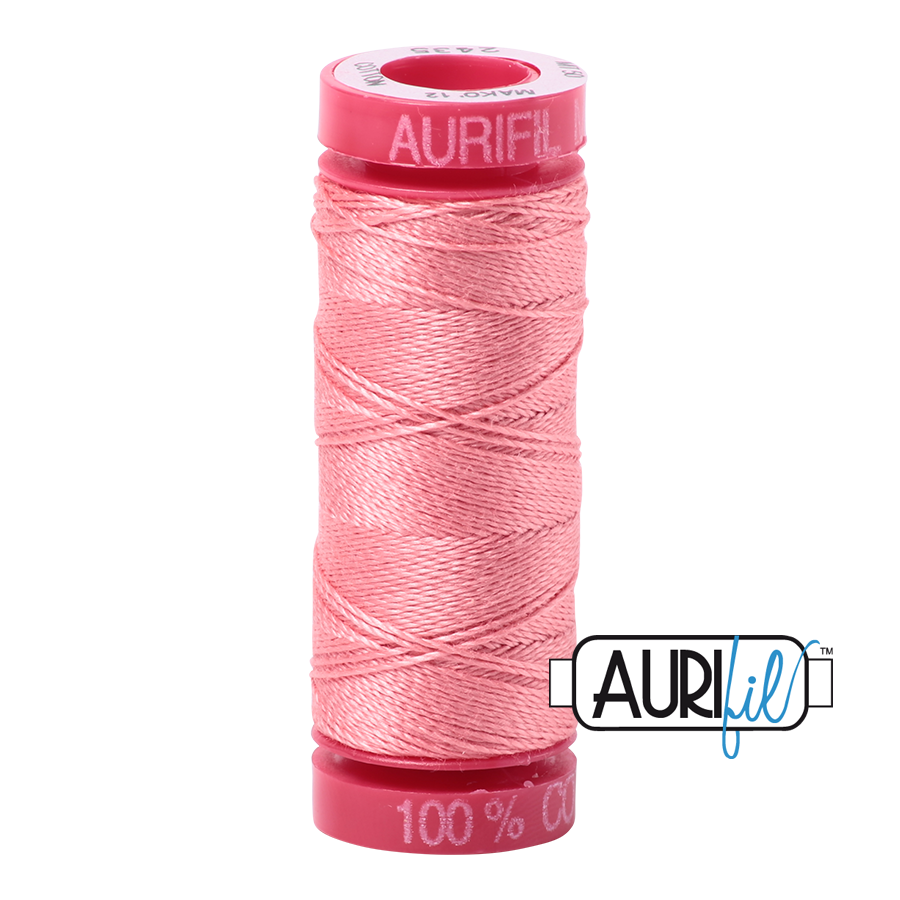 Aurifil ~ 12wt Thread ~ 2435 ~ Peachy Pink