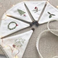 'Embroidered Christmas Mini Bunting' Kit