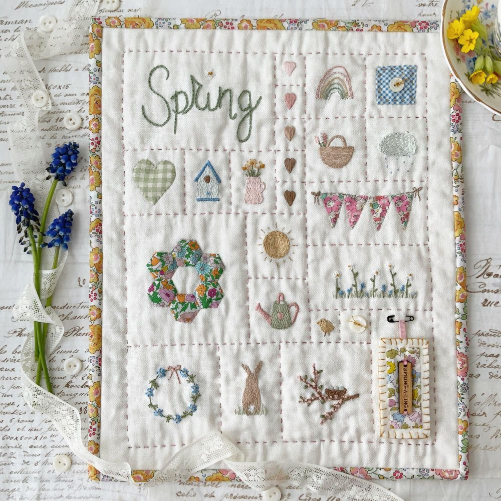 '#sewalittlehappinesseveryday Spring Sampler ' Kit ~ AVAILABLE NOW TO PRE-O
