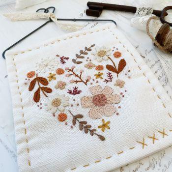 'Filled Floral Heart' Sunset Kit