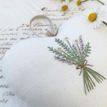 'Lavender, Rosemary and Daisy Hanging Heart' Kit
