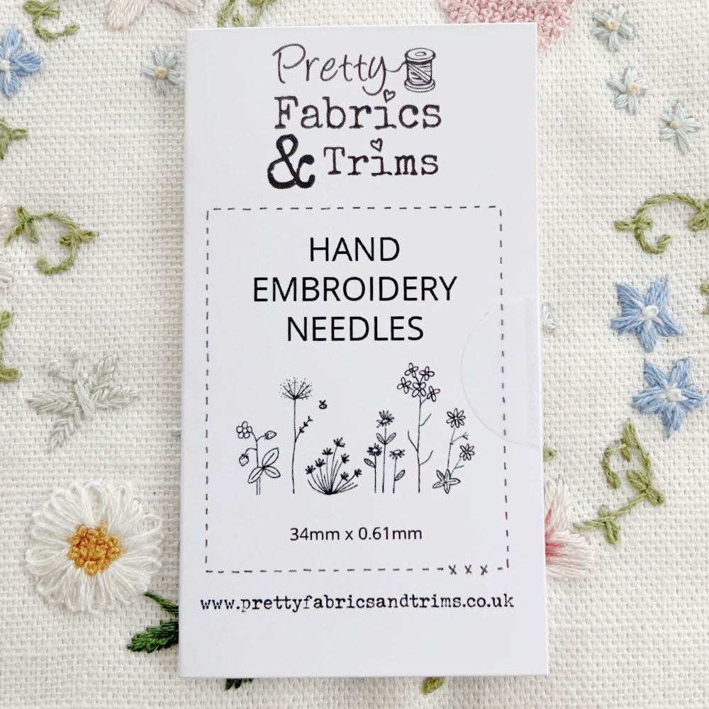 Sarah's Favourite Needles for Hand Embroidery