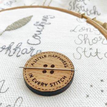 *NEW* A Little Happiness in Every Stitch Needle Minder