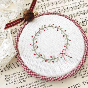 *PRE-ORDER* 'Embroidery Hoop Festive Wreath' Kit