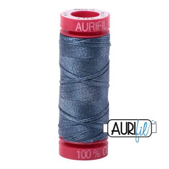 Aurifil ~ 12wt Thread ~ 1310 ~ MediumBlue Grey