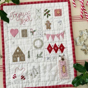 *PRE-ORDER* '#sewalittlehappinesseveryday Joyeux Noel  Sampler ' Kit