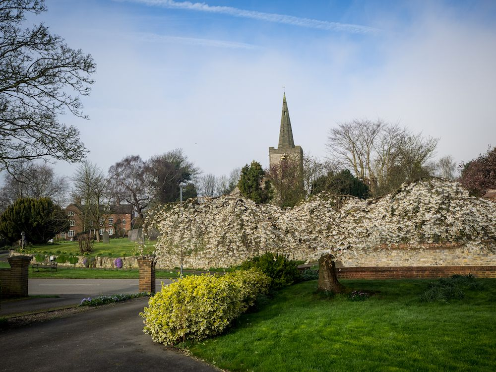 Wysall Church in Spring