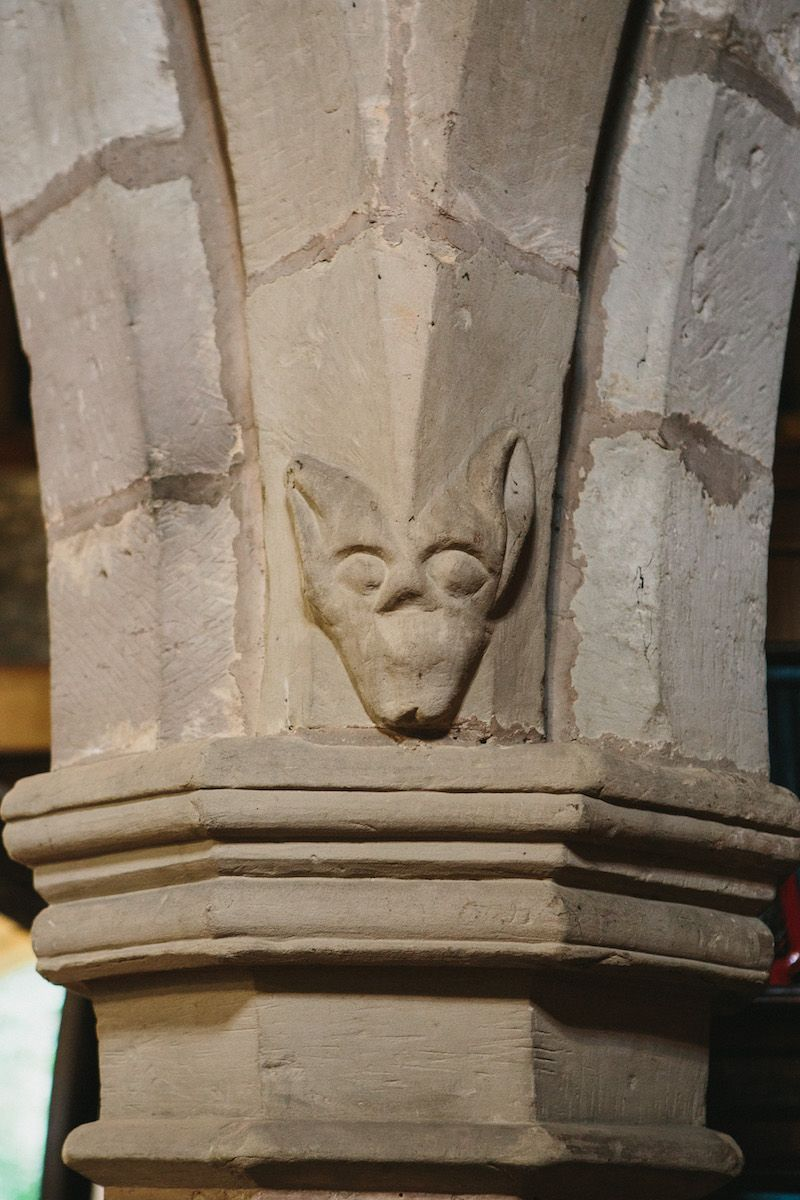 Fox on Church Pillar