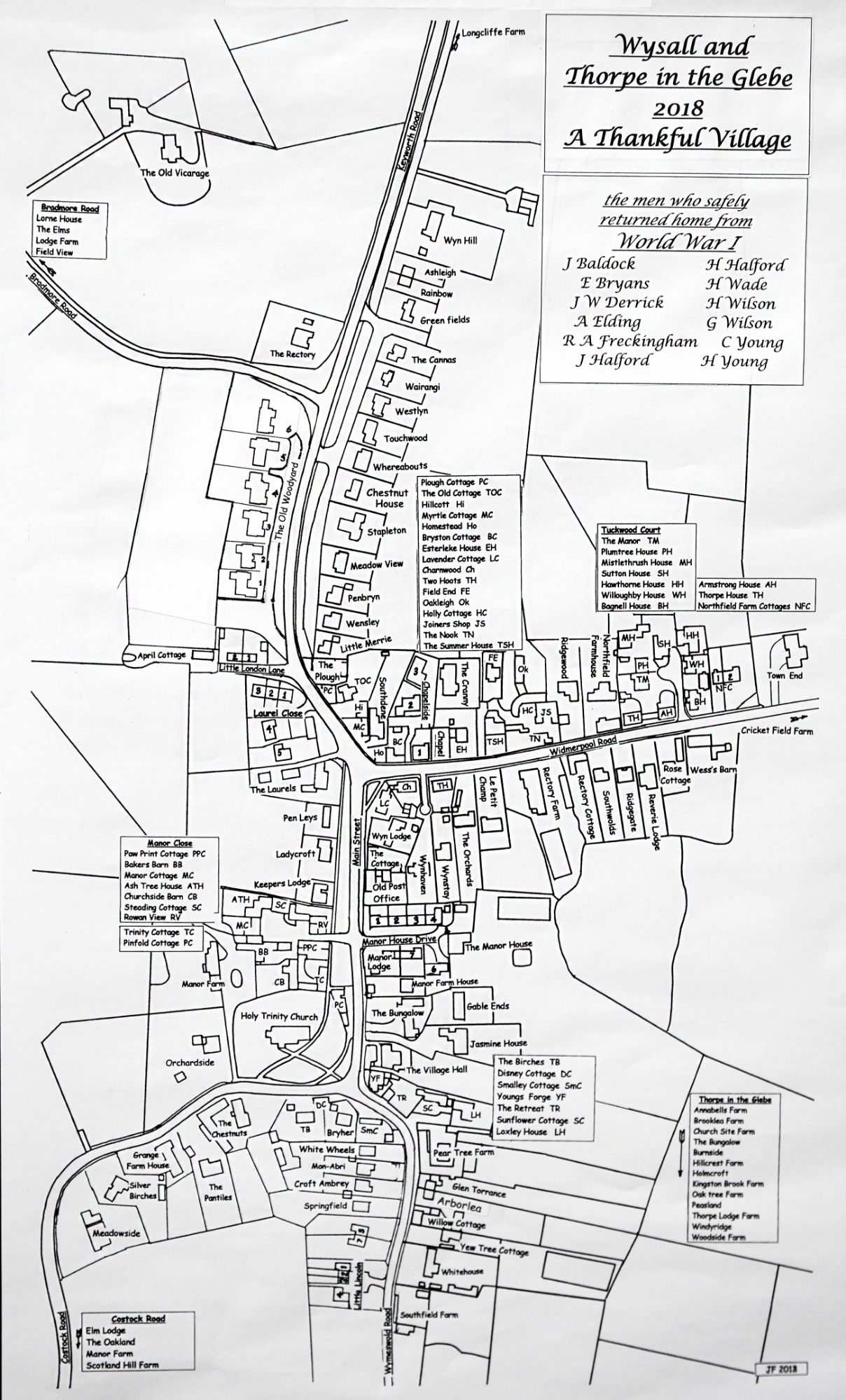 Wysall Village Map