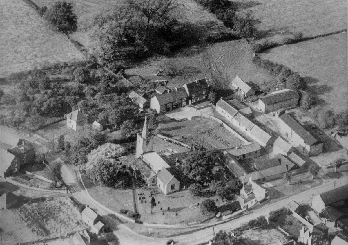 Old Aerial view of Wysall