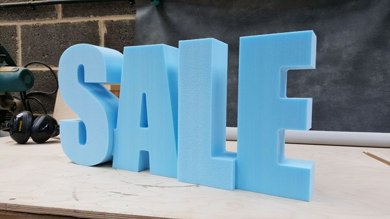 Foam CNC Cut SALE Sign