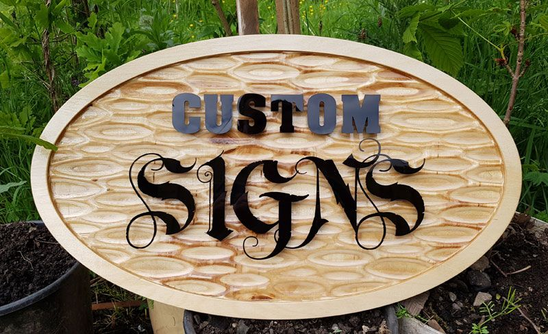 CNC Textured Custom Sign