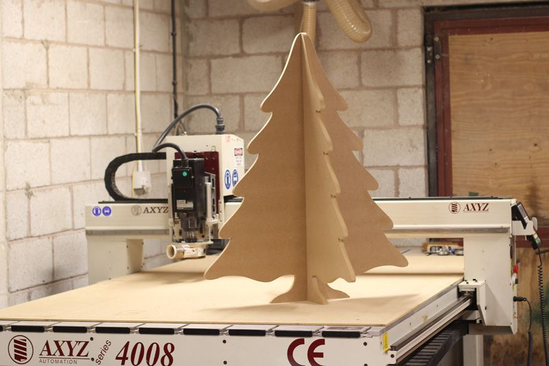 Large CNC Cut mdf Christmas Tree