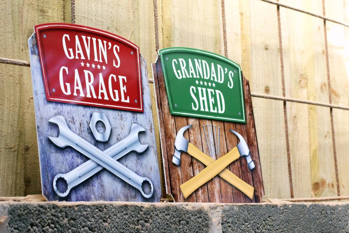 Printed Garage / Shed Signs