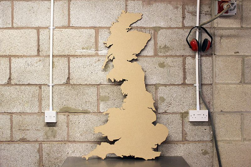 Laser Cut UK Map