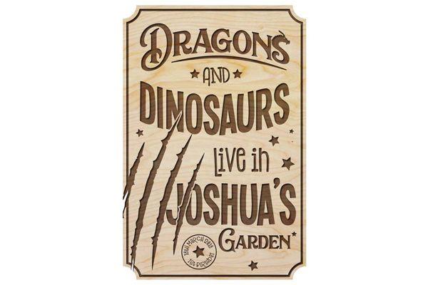 Dinosaur-Plaque