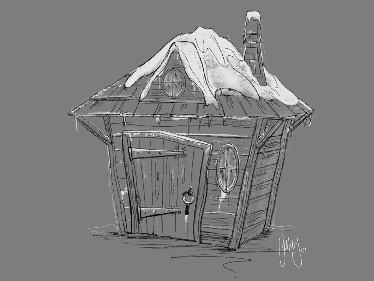 Ice Hut Graphic Design Drawing