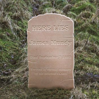 Gravestone with Personalised Details - Type A Large