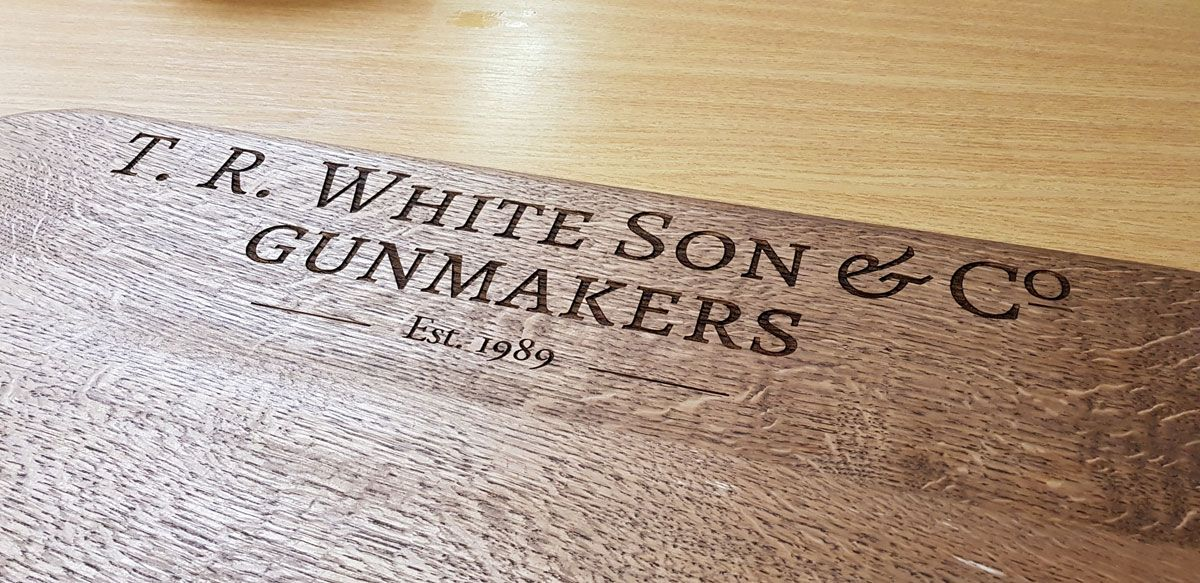 Oak Laser Engraved Wooden Sign