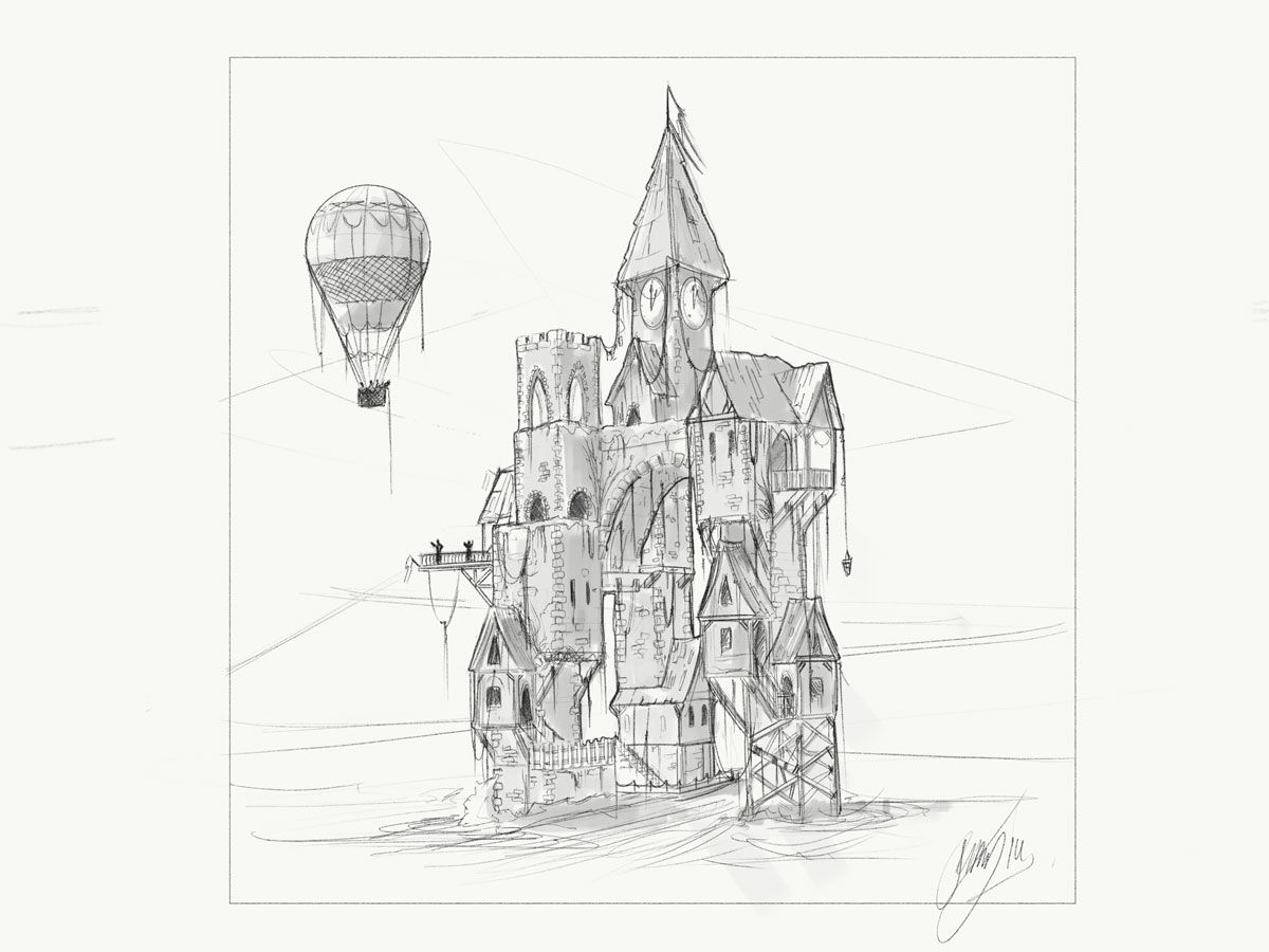 Castle Balloon Design Sketch