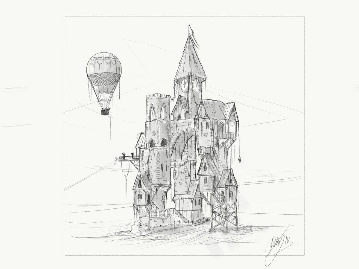 Castle Balloon Design Sketch