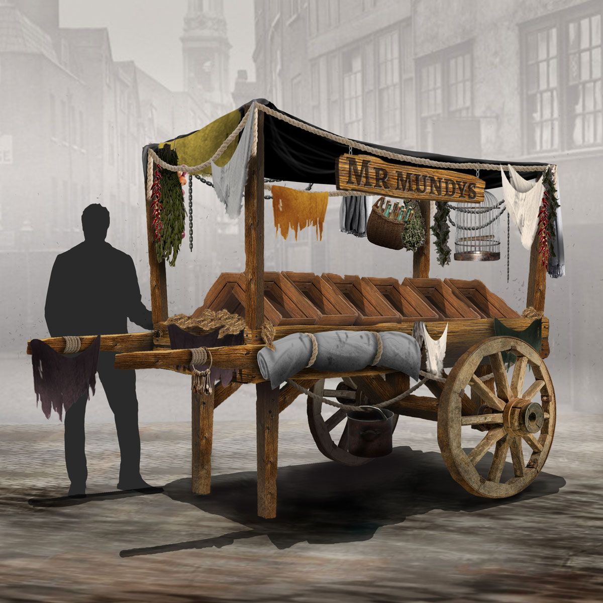 Victorian Street Seller Cart Design
