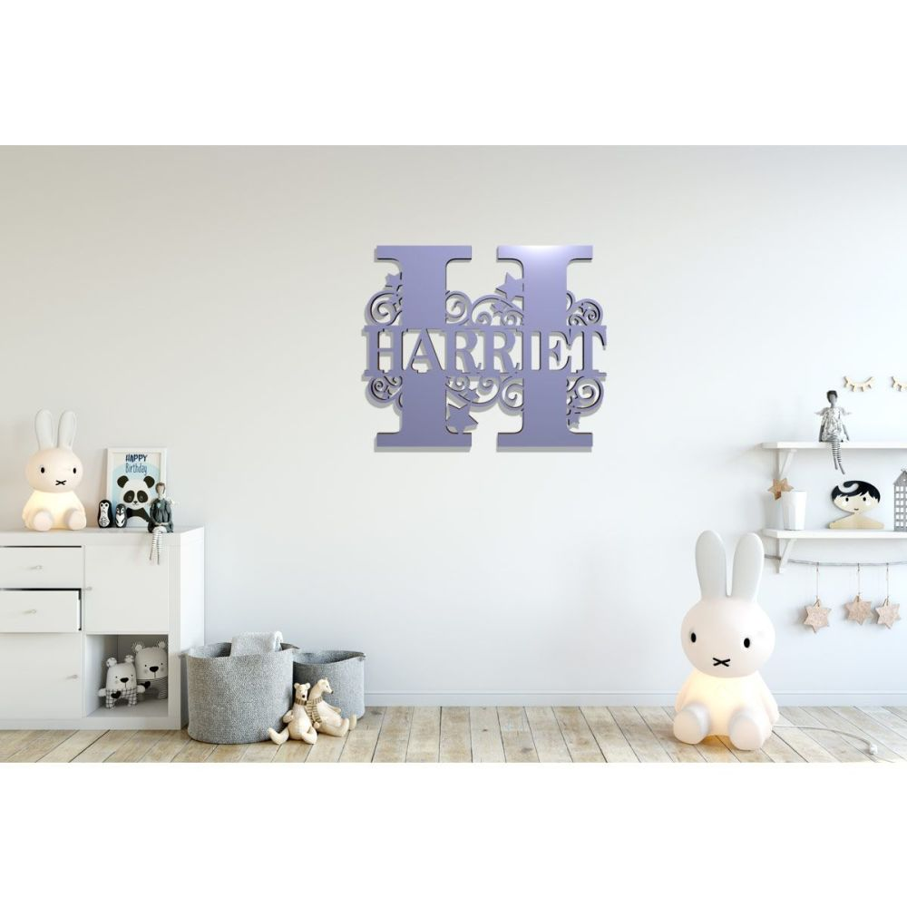Monogram Acrylic Faced Wooden Letters