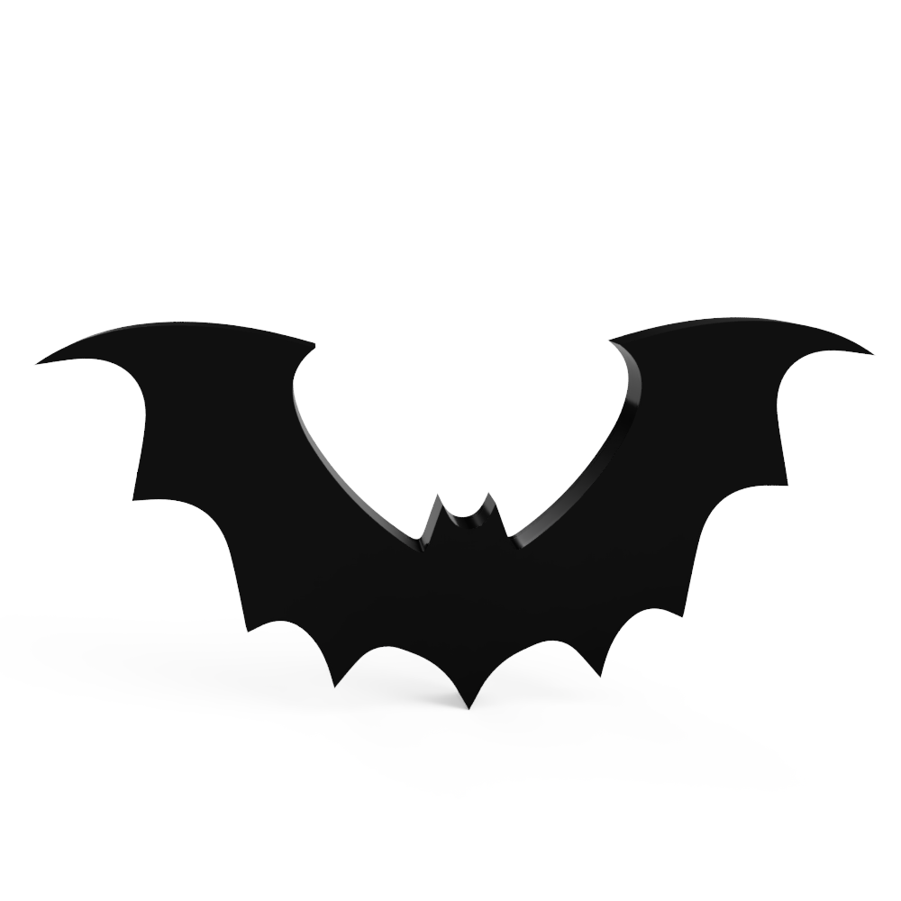 Bat Acrylic Wall Prop Decoration
