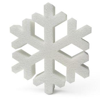 Polystyrene Snowflakes (A) 200mm x10